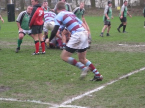 Despite the deteriorating pitch, the action was often too fast for the camera.