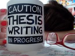 caution thesis writing