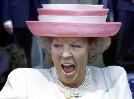 The most amusing image of Queen Beatrix I could procure