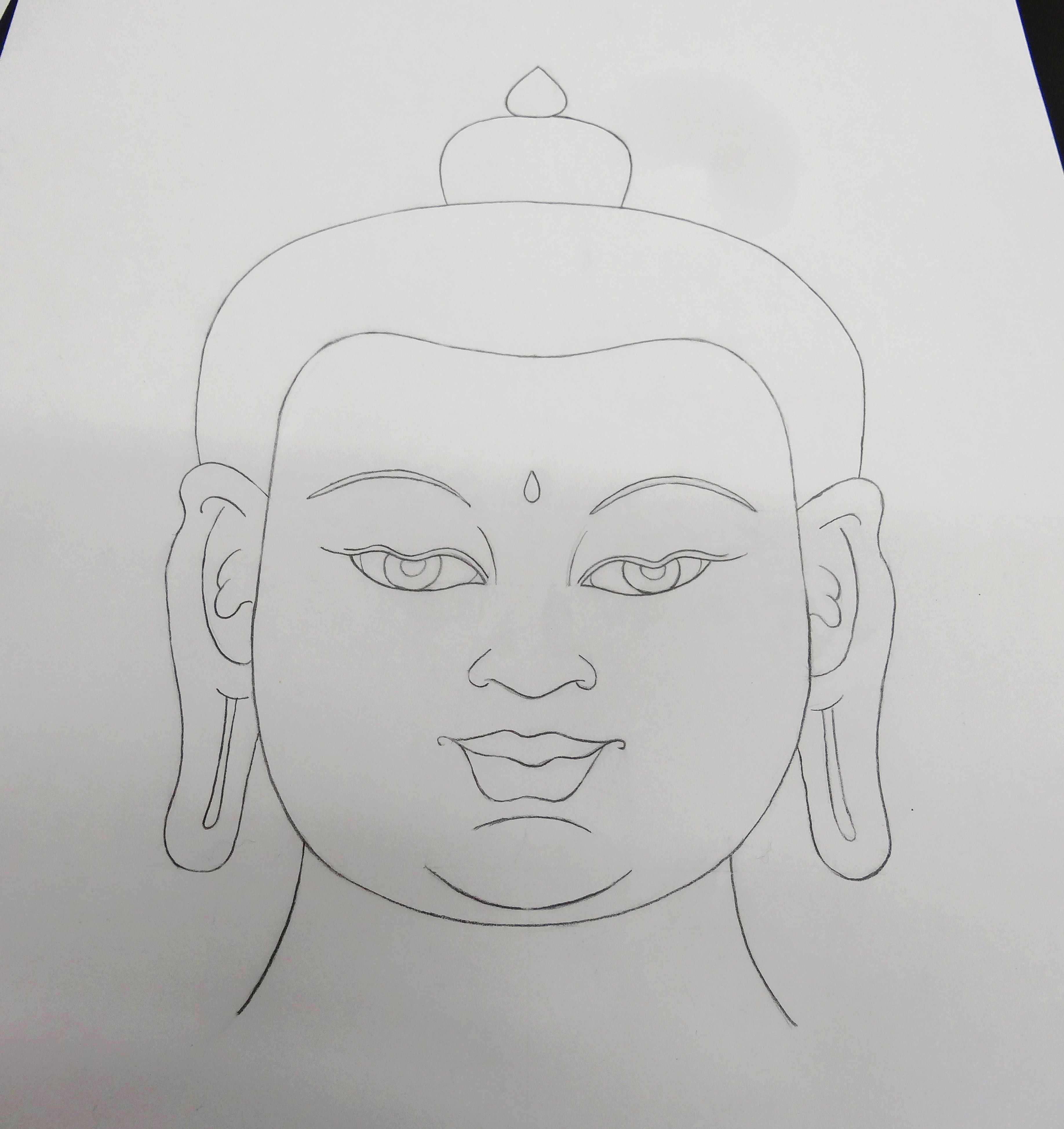 Buddha Face Line Drawing : Buddhism weekend at the volkenkunde museum leidener