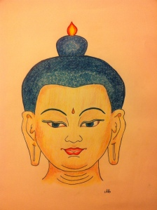 The Buddha face I drew last year.