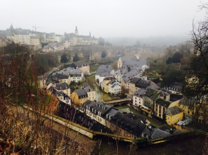 Luxembourg City, looking down over the Grund
