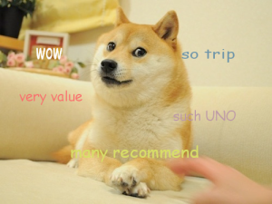 This doge meme describes me, a foreign tourist the best