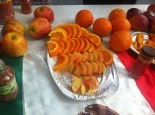 """Apples and Oranges with Mexican spices which """"you put on anything to make it delicious""""! Yum!"""
