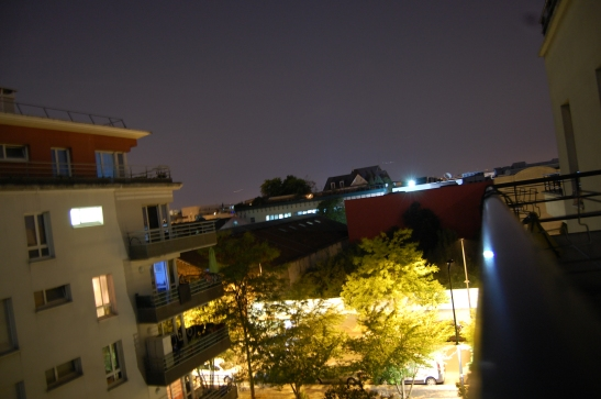 This is my balcony on this hot Parisian night.