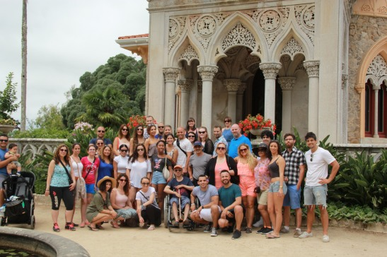 The entire wedding group at Monserrate.