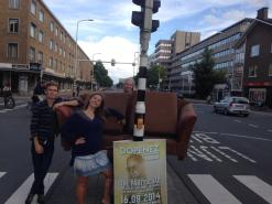 Lugging a sofa across The Hague